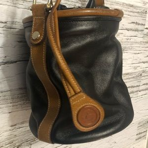 Vintage Michel Cloetta  leather mini bucket bag